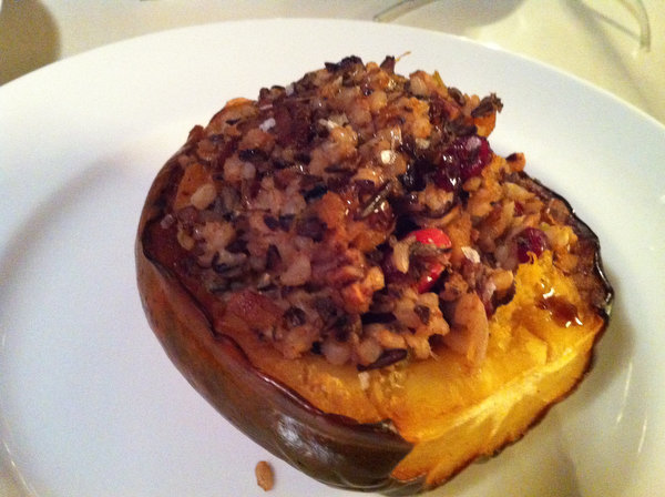 Roasted Acorn Squash Stuffed with Wild RIce Pilaf