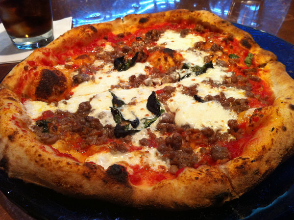 Margherita with sausage at Don Antonio.